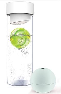 Fruit Infused Water Bottle w/ Ice Ball #exercise #healthy