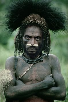 Nomad River tribesman, Papua New Guinea | Man As Art - Malcolm Kirk: Photographs
