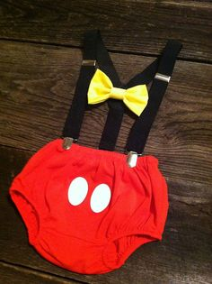 Mickey Mouse Birthday Outfit Cake Smash Outfit by CraftsandVinyl