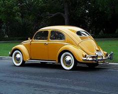 Vintage VW Beetle :: Beautiful Lines :: white wall tires Beetle Bug, Vw Beetles, Yellow Car, Mellow Yellow, Vw Volkswagen, Vw T1, Vw Camping, Kdf Wagen, Bug Car