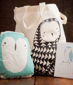 Handmade owl gift set... this is adorable!
