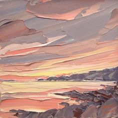 the month Many Shades of Peach - June — Suna & Toast - suna & toast- of the month Many Shades of Peach - June — Suna & Toast - suna & toast- A quick demo on how I start a painting 16 Trendy painting art beautiful palette knife Matthew Snowden ( Landscape Art, Landscape Paintings, Landscapes, Palette Knife Painting, Painting Inspiration, Art Inspo, Canvas Art, Painting Canvas, Artist Painting