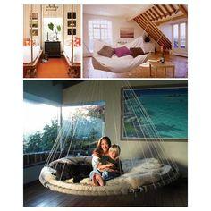 Floating Frames: 6 Hanging Bed + Swinging Mattress Sets | Designs U0026 Ideas  On Dornob