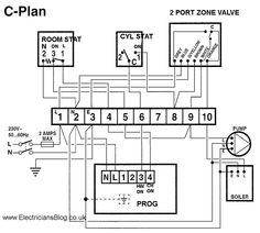 7 Best wireing images | Central heating, Cord, Wire  Phase Wiring Diagram For Heater Twain on