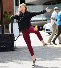 Chloe Grace Moretz can't contain her excitement with boyfriend Brooklyn Beckham | Daily Mail Online