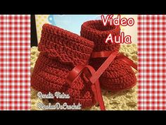 * Pérolas do Crochet: Botinha de croche VÍDEO AULA