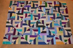 "lovely ""twist & turn"" quilt (bonnie hunter's pattern), made by the yankeequilter, on the scraps & threadtales blog"