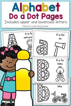 Alphabet Do a Dot Pages – Upper and Lowercase! Dot Letters, Upper And Lowercase Letters, Lower Case Letters, Lowercase A, Fun Activities For Preschoolers, Preschool Lessons, Alphabet Activities, Learning Activities, Toddler Learning