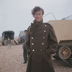 1966 - John Lennon as Gripweed in How I Won The War film (backstage photo).