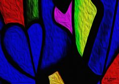 Digital Painting - Title of the Work: Blue Heart