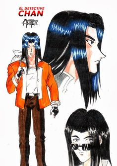 DETECTIVE CHAN: ilustración de Yiro Noritaki [Diseño de Personajes] por PASCUAL