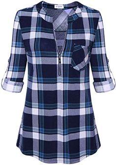 Plaid Tunic, Tunic Shirt, Shirt Blouses, Tunic Tops, Shirts, Fall Tunic, Casual Tops For Women, Work Casual, Clothes For Women