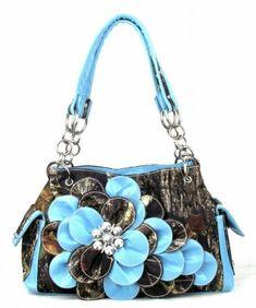 Western Camo Camouflage Flower Rhinestone Concho Purse Handbag (Blue) Go CowGirl http://www.amazon.com/dp/B00JK8KIC8/ref=cm_sw_r_pi_dp_PASCub0KACRTP