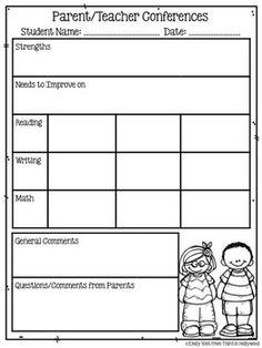 1000 images about parent teacher conferences on pinterest for Parent teacher meeting report template