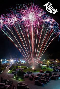 Fireworks celebration for the tenth anniversary of King's Casino! #fireworks #casino #birthday #party