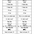 use and copy for each student per day as a quick maths warm up or blow up and make into a chart.. Great for number and place value concepts. ...