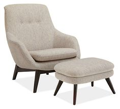 Henrick Chair & Ottoman - Chairs - Living - Room & Board  A chair and ottoman but looks comfy and fab!