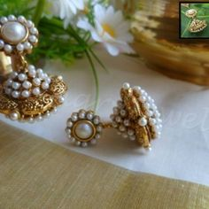 Back in stone the most favorite earring of smingryjewels. Perfect match for any Kerala sarees.