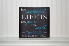 Custom Wooden Nursery Decor Sign with Quote & by CRSWoodDesigns, $38.50