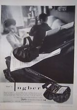 1951 Vintage Inger Duet Designer Handbag Purse Two Part Interior Magazine Ad