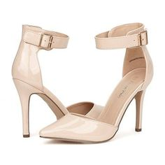 High Heel Stiletto Pumps Shoes ANKLE Women's Pointed Toe Ankle Strap D'Orsay