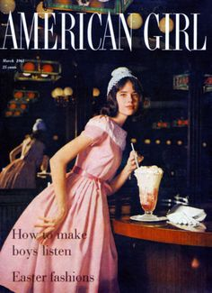 Colleen Corby on Cover of American Girl 1961