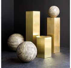 Spun Bamboo Balls - Unique Artifacts - Hospitality Gold Leaf Design Group