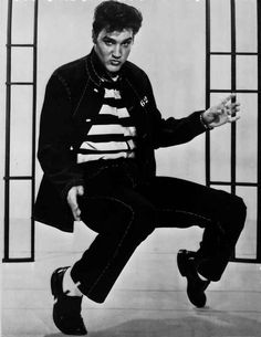 Elvis Presley Bending in Stripes Shirt High Quality Photo | eBay