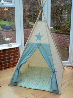 1 meter each side and 130 cm high. $94 Custom Made Children's Teepee play tent by milliemoment on Etsy