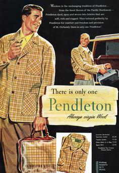 Pendleton Woolen Mills, 1954 | Remarkably Retro