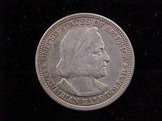 1893 Columbian Exposition Commemorative Silver Half Dollar VF Condition   eBay