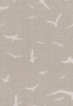 Seagulls fabric, Clay - Peony  Sage