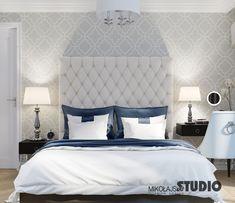 Mała jasna sypialnia w stonowanej kolorystyce