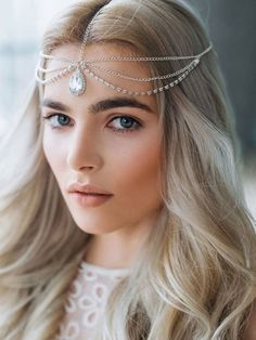 FXmimor Head Chain Bohemian Crystal Halloween Headpiece Wedding Hair Jewelry Accessories for Women Girl Bridal * Read more at the image link. Chain Headpiece, Headpiece Jewelry, Head Jewelry, Bohemian Headpiece, Bohemian Necklace, Hippie Jewelry, Bohemian Gypsy, Gypsy Style, Bohemian Style