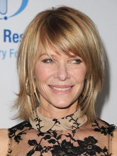 Kate Capshaw with Long Bob with bangs