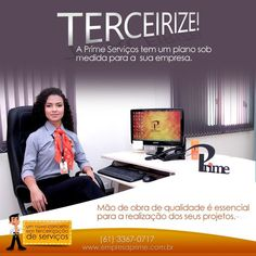 Serviços terceirizados e especializados em Brasília DF é com a Prime! www.empresaprime.com.br