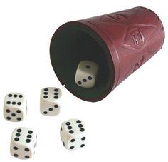 5 dados y cubilete, juego de la generala