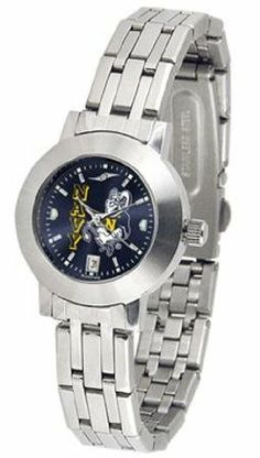 Naval Academy Midshipmen Women's Modern Stainless Steel Watch by SunTime. $80.95. Scratch Resistan Mineral Crystal Face. Women. Stainless Steel Band. Officially Licensed Navy Midshipmen Ladies Stainless Steel Watch. Links Make Watch Adjustable. Naval Academy Midshipmen Women's Modern Stainless Steel Watch. This Midshipmen watch has an elegant design for the modern woman who wants to show their team spirit! The dial is presented in a sleek, stainless steel case and...