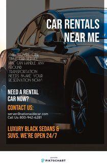 Car Rentals Near Me Piktochart Infographic Editor Car Service