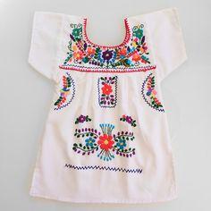 mexicano bordado vestido de bebé a tamaño 10 por threebigsmiles