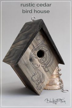 Beautifully Handmade cedar birdhouse for your fine feathered friends. Limited quantities available this spring. Order yours today #birdhouse #blacknotfarm