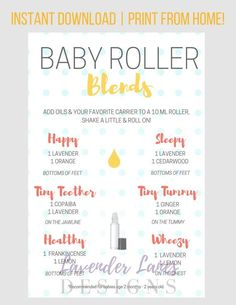 DIGITAL DOWNLOAD Essential Oil BABY by LavenderLanesDesigns