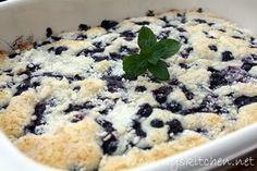 Blueberry Muffin Snack Cake - To Celebrate National Blueberry Muffin Day.