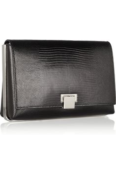 "The Row | Metal-framed lizard clutch | NET-A-PORTER.COM $5950 6""H x 8.75""W x 2.75""D"