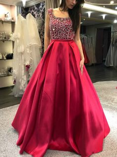 Ulass Cap Sleeves Prom Dress, Beaded Prom Dress, Backless Prom Dress, Red Prom Dress, Long Prom Dress 2018 · Ulass · Online Store Powered by Storenvy Red Satin Prom Dress, Long Gown Dress, Beaded Prom Dress, Backless Prom Dresses, A Line Prom Dresses, Prom Dresses With Sleeves, The Dress, Dress Red, Long Dresses