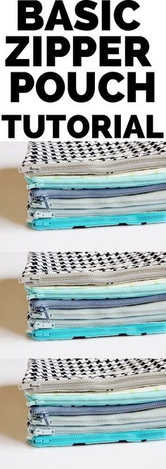 I love these zipper pouches I use them for storing my hair bands and clips. They are great for travel. #zipperpouch #sewingtutorial #sewingtips