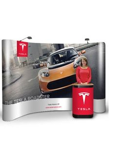 3x5 Pop-Up Frame System Pop Up Frame, Fabric Display, Tesla Roadster, Exhibition Display, Graphic Prints, Messages, Expo Stand, Text Posts