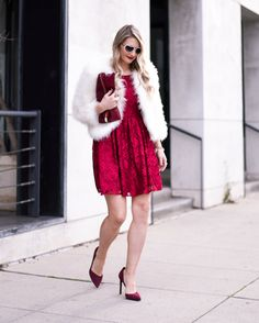 7f8eac9596 A little red lace dress is perfect for Valentine s Day date night. Fashion  Trends