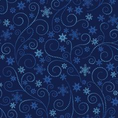 Father Frost Christmas Quilt Fabric 1 2yd Swirls on Blue | eBay