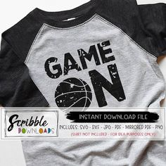 90fc2f8d76518 basketball SVG Game Day svg Game On dxf svg Cricut Silhouette Cut File  sports distressed grunge